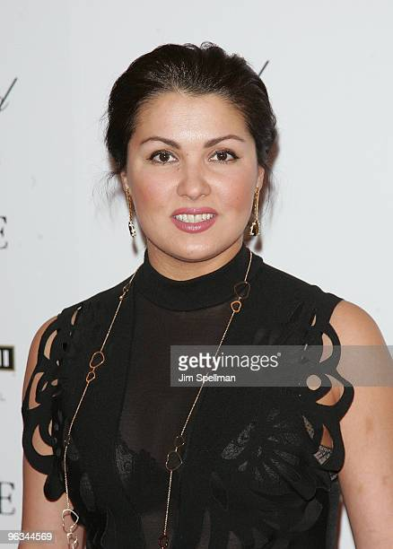 Anna Netrebko attends the New York premiere of 'Nine' at the Ziegfeld Theatre on December 15 2009 in New York City