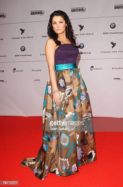 Anna Netrebko during 7th Annual Cinema For Peace Gala sponsored by BMW CleanEnergy as part of the 58th Berlinale International Film Festival held at...