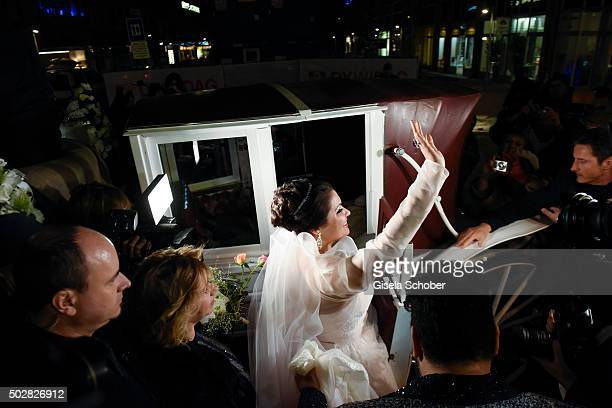 Anna Netrebko during her wedding with Yusif Eyvazov at Palais Liechtenstein on December 29 2015 in Vienna Austria