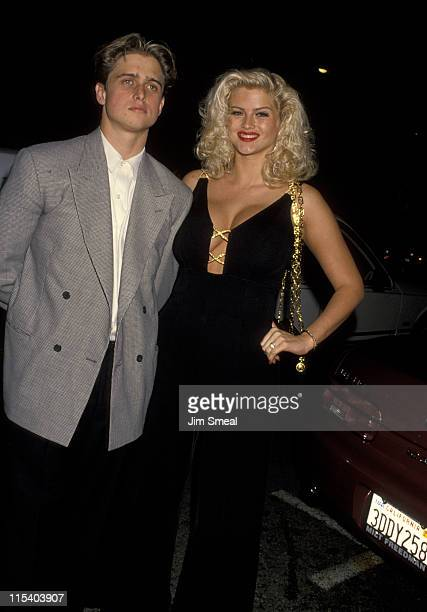 Anna Nicole Smith and Brother during Opening Night Party for 'Guys Dolls' at Club Tatou in Hollywood California United States