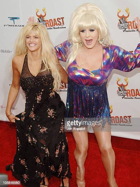 Anna Nicole Smith and Lady Bunny during Comedy Central Roast of Pamela Anderson Arrivals at Sony Studios / Stage 15 in Culver City California United...