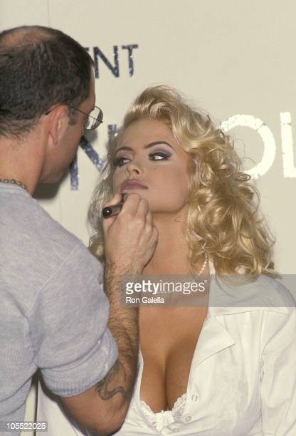 Anna Nicole Smith and MakeUp Artist during Anna Nicole Smith's Special Appearance For Guess Sportwear at Bullock's Store at Beverly Center in Beverly...
