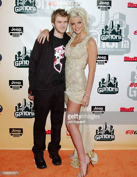 """Anna Nicole Smith and son Daniel during """"G-Phoria - The Award Show 4 Gamers"""" - Arrivals at Shrine Exposition Center in Los Angeles, California,..."""