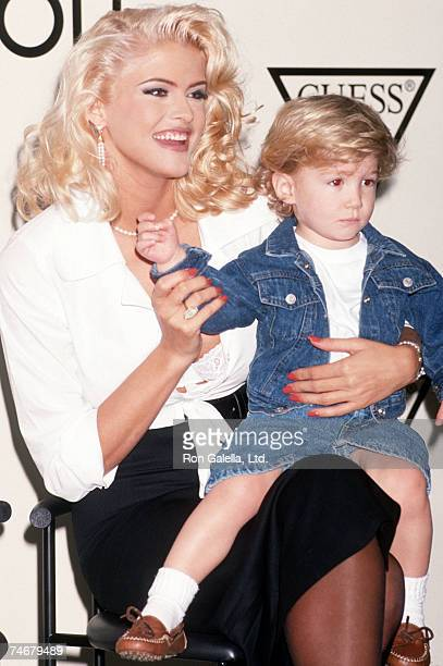 Anna Nicole Smith and son Danny at the Bullock's Store at Beverly Center in Beverly Hills California