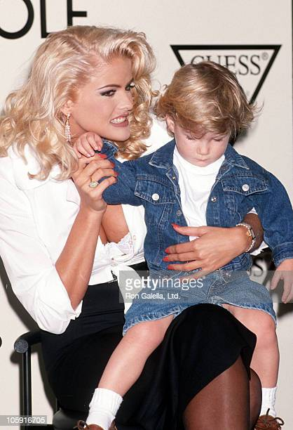 Anna Nicole Smith and son Danny during Anna Nicole Smith's Special Appearance For Guess Sportwear at Bullock's Store at Beverly Center in Beverly...