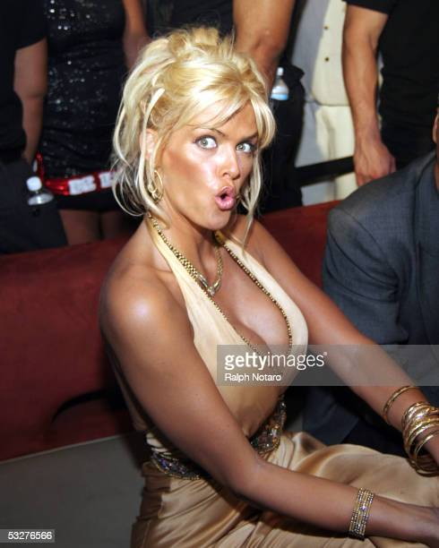 Anna Nicole Smith attends a Trimspa party at Passions Night Club at the Seminole Paradise Hard Rock Hotel and Casino on July 22 2005 in Hollywood...