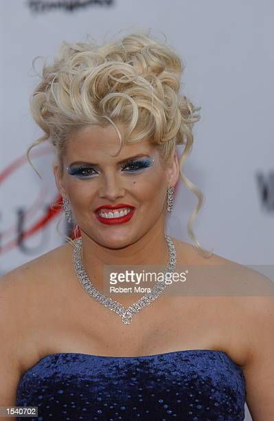 Anna Nicole Smith attends Vanity Fair's Guess 20th Anniversary Party at the Wilshire Ebell Theatre May 9 2002 in Universal City CA