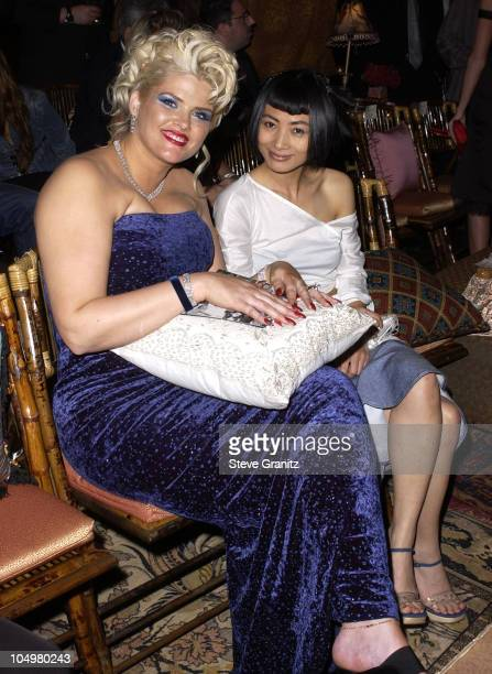 Anna Nicole Smith Bai Ling during Vanity Fair Toasts Guess In Celebration Of The Dream Denim Makers 20th Anniversary at The Wilshire Ebell Theatre in...