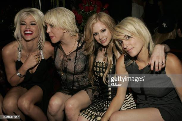 Anna Nicole Smith Courtney Love Avril Lavigne and Lisa Leveridge
