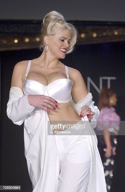 Anna Nicole Smith during 2001 Lane Bryant Fashion Show at Studio 54 in New York City New York United States