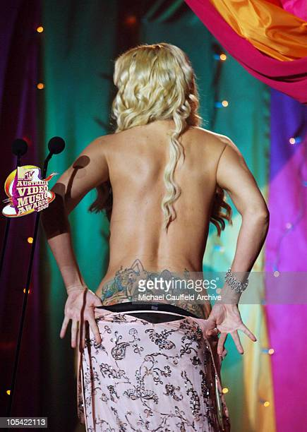 Anna Nicole Smith during 2005 MTV Australia Video Music Awards Show at Big Top Luna Park in Sydney New South Wales Australia