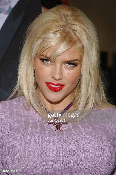 Anna Nicole Smith during Anna Nicole Smith Unveils Gentlemen Prefer FurFree Blondes PETA Ad at Rodeo Drive in Los Angeles California United States