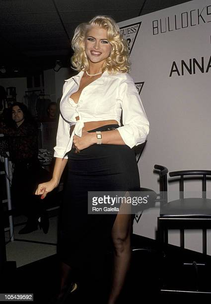 Anna Nicole Smith during Anna Nicole Smith's Special Appearance For Guess Sportwear at Bullock's Store at Beverly Center in Beverly Hills California...