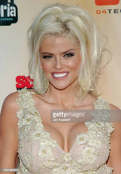 Anna Nicole Smith during 'GPhoria The Award Show 4 Gamers' Arrivals at Shrine Exposition Center in Los Angeles California United States