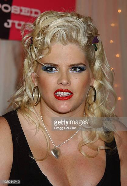 Anna Nicole Smith during National Cable Telecommunications Association Press Tour at Ritz Carlton Pasadena in Pasadena California United States