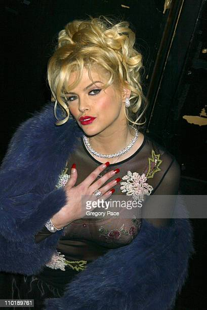 Anna Nicole Smith during Olympus Fashion Week Fall 2004 Betsey Johnson Front Row and Runway at Irving Plaza in New York City New York United States
