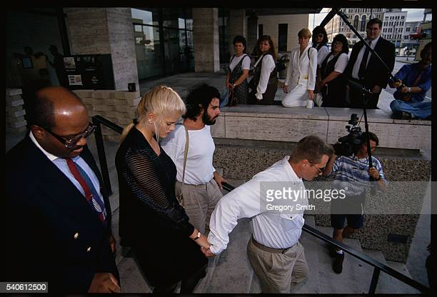 Anna Nicole Smith leaves a Houston courthouse after legal actions involving the will of her late husband millionaire J Howard Marshall The two had...