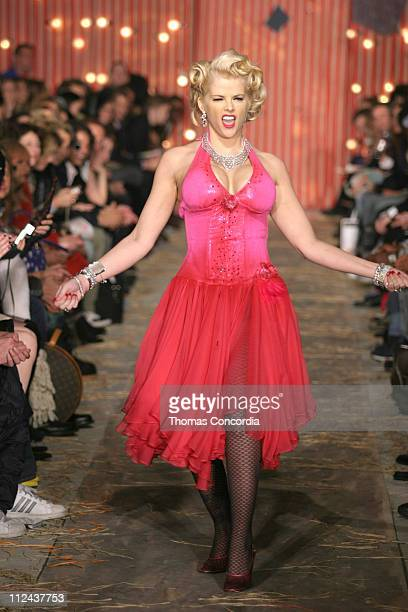Anna Nicole Smith wearing Heatherette Fall 2004 during Olympus Fashion Week Fall 2004 Heatherette Runway at Mao Space at Atlas in New York City New...