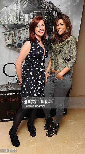 Anna Nightingale and Montanna Manning attend the premiere of 'The Cabin In The Woods' at The Mayfair Hotel on April 5 2012 in London England