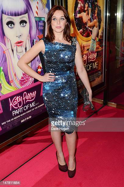 Anna Nightingale attends the European premiere of 'Katy Perry Part Of Me' at The Empire Leicester Square on July 3 2012 in London England