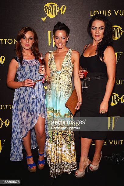 Anna Nightingale Emma Conybeare and Grainne Mccoy attend The Bling Ring Party hosted by Louis Vuitton during the 66th Annual Cannes Film Festival at...