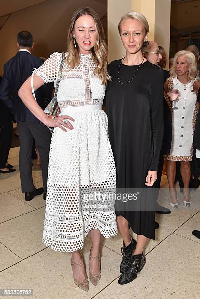 Anna Nikolayevsky and Anna Thompson attend Mostly Mozart Festival Opening Night Gala Celebrating 50 Years of the Mostly Mozart Festival at David...