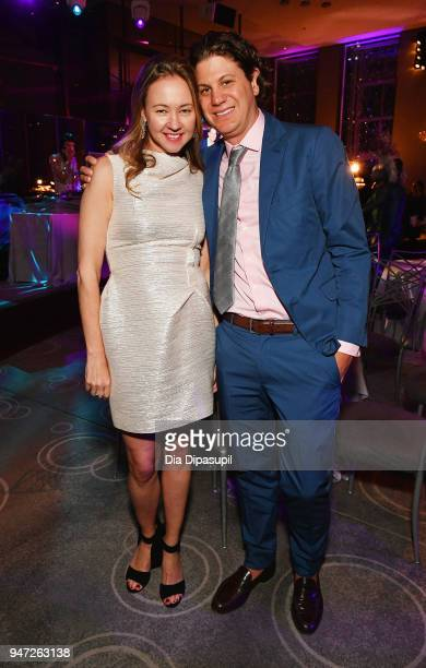 Anna Nikolayevsky and guest attend the Lincoln Center Alternative Investment Industry Gala on April 16 2018 at The Rainbow Room in New York City