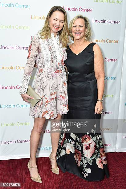 Anna Nikolayevsky and Laurie M Tisch attend Lincoln Center's 2016 Fall Gala at Jazz at Lincoln Center on November 1 2016 in New York City