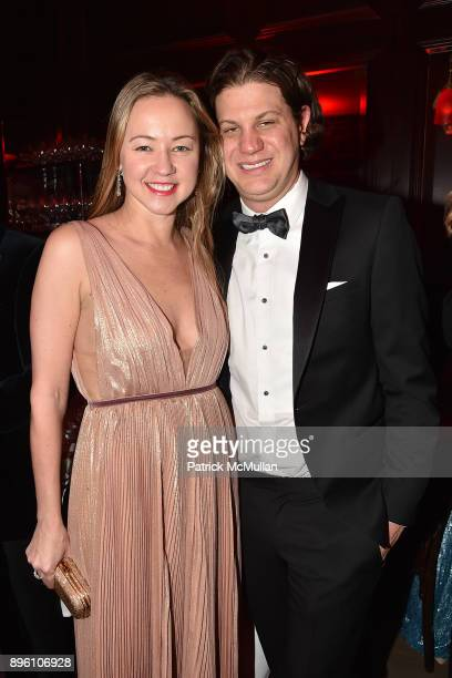 Anna Nikolayevsky and Tony Eisenberg attend Julie Macklowe's 40th birthday Spectacular at La Goulue on December 19 2017 in New York City