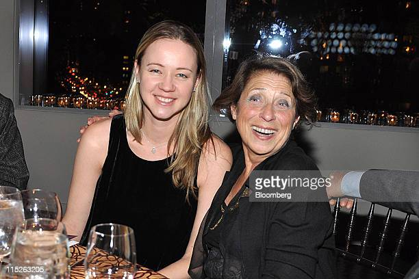 Anna Nikolayevsky Benton chief investment officer at Axel Capital Management LLC left and her mother Elina Nikolayevsky sit for a photograph at the...
