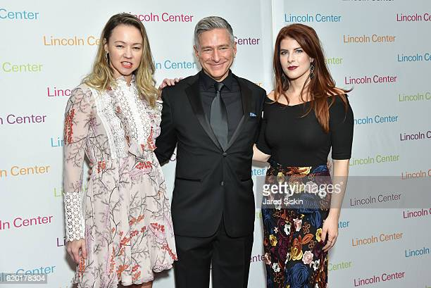 Anna Nikolayevsky Vin Cipolla and Olivia Cipolla attend Lincoln Center's 2016 Fall Gala at Jazz at Lincoln Center on November 1 2016 in New York City