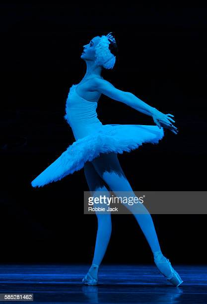 Anna Nikulina as Odette/Odile in the Bolshoi Ballet's production of Swan Lake choreographed by Yuri Grigorovich after Marius Petipa and Lev Ivanov at...