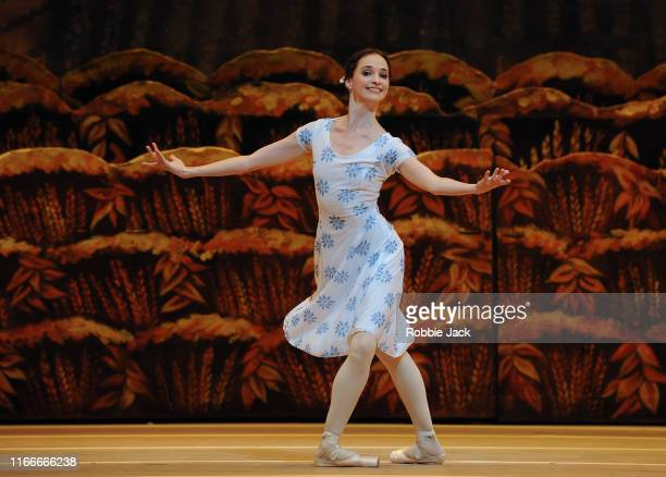 Anna Nikulina as Zina in The Bolshoi Ballet's production of Alexei Ratmansky's The Bright Stream at The Royal Opera House on August 7 2019 in London...