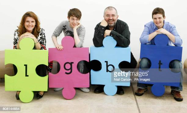 Anna Nolan Patrick Dempsey Bill Hughes and Cat McIlory during the launch of the LGBT Diversity programme at the Royal Hibernian Academy in Dublin