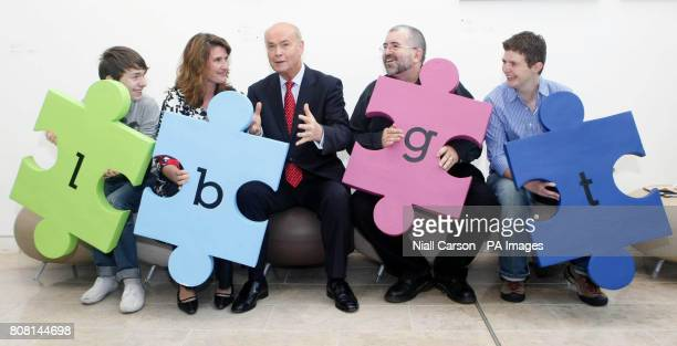 Anna Nolan Patrick Dempsey Minister for Community Rural and Gaeltacht Affairs Pat Carey Bill Hughes and Cat McIlory during the launch of the LGBT...