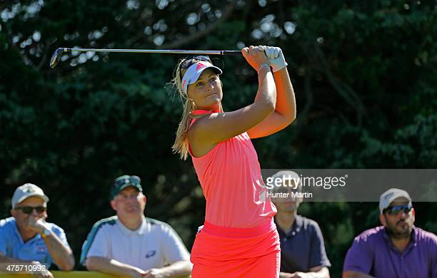 Anna Nordqvist of Sweden during the second round of the ShopRite LPGA Classic presented by Acer on the Bay Course at the Stockton Seaview Hotel Golf...