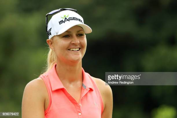 Anna Nordqvist of Sweden walks on the 14th hole during round two of the HSBC Women's World Championship at Sentosa Golf Club on March 2 2018 in...