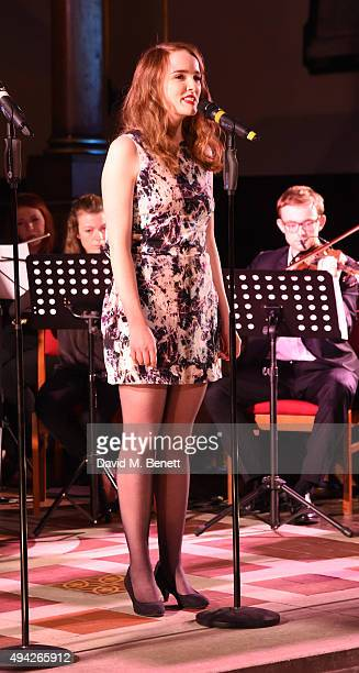 Anna O'Byrne attends the 'A Song For Syria' charity gala at St Paul's Church Covent Garden on October 25 2015 in London England