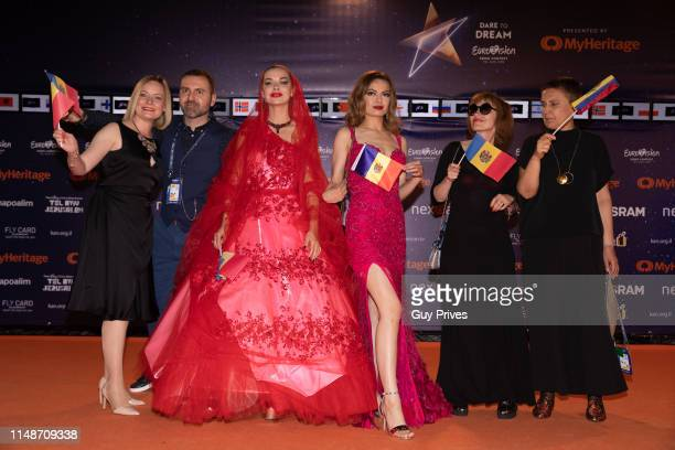 Anna Odobescu of Moldova arrives at the 64th Eurovision Song Contest held at Tel Aviv Fairgrounds on May 12 2019 in Tel Aviv Israel