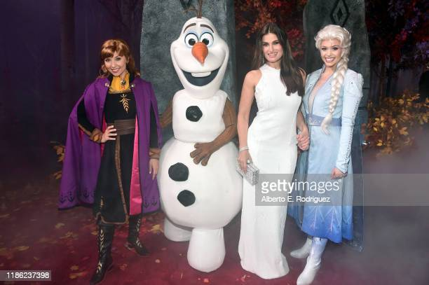 Anna Olaf Actress Idina Menzel and Elsa attend the world premiere of Disney's Frozen 2 at Hollywood's Dolby Theatre on Thursday November 7 2019 in...
