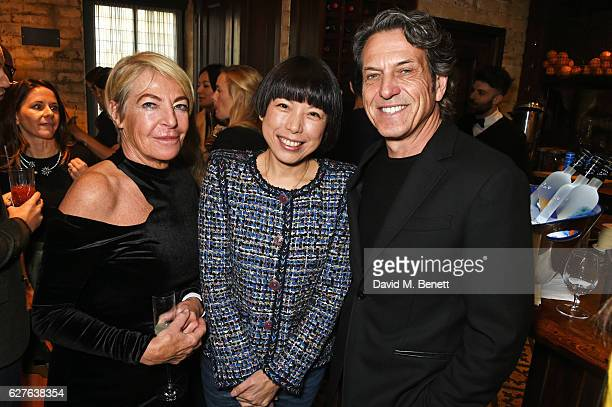 Anna Orsini Angelica Chung and Stephen Webster attend The Fashion Awards in partnership with Swarovski nominees' lunch hosted by the British Fashion...