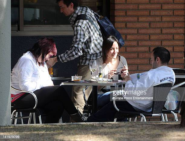 Anna Ortiz and Andres Iniesta sighted on March 13 2012 in Barcelona Spain
