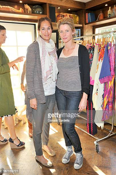 Anna OstbergCasanova and Debbie Chin Klinsmann attend FIGUE Lunch LA at The Bungalow on November 6 2013 in Santa Monica California