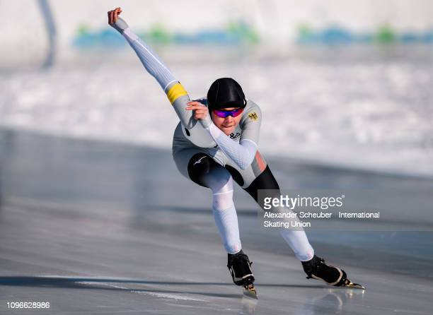 Anna Ostlender of Germany performs in the Ladies 1000m sprint race during the ISU Junior World Cup Speed Skating Final day 1 on February 9 2019 in...