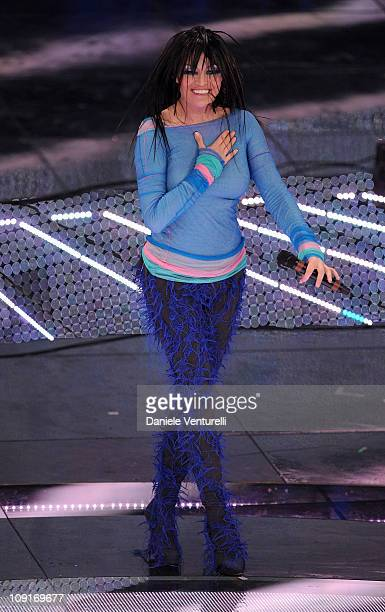 Anna Oxa attends the 61th Sanremo Song Festival at the Ariston Theatre on February 15 2011 in San Remo Italy