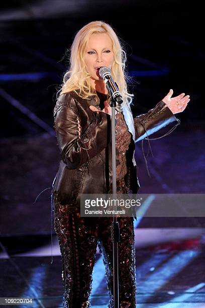 Anna Oxa attends the 61th Sanremo Song Festival at the Ariston Theatre on February 16 2011 in San Remo Italy