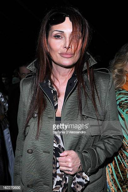 Anna Oxa attends the Just Cavalli fashion show during Milan Fashion Week Womenswear Fall/Winter 2013/14 on February 21 2013 in Milan Italy