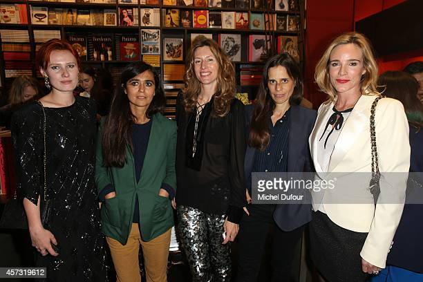 Anna Pahlavi Laetitia Ivanez Julia Chaplin Alice D'Orgeval and Geraldine Danon attend the 'Gypset Living' cocktail At Boutique Assouline on October...