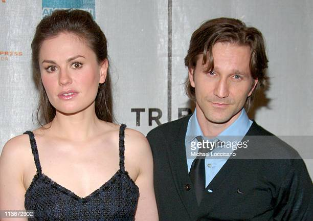 Anna Paquin and Breckin Meyer during 6th Annual Tribeca Film Festival 'Blue State' Premiere at Clearview Chelsea West in New York City New York...