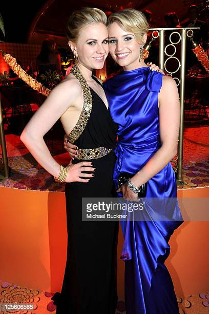 Anna Paquin and Dianna Agron at HBO's Annual Emmy Awards Post Award Reception Inside on September 18 2011 in Los Angeles California